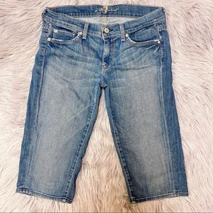 7 for all Mankind Cropped Straight Denim